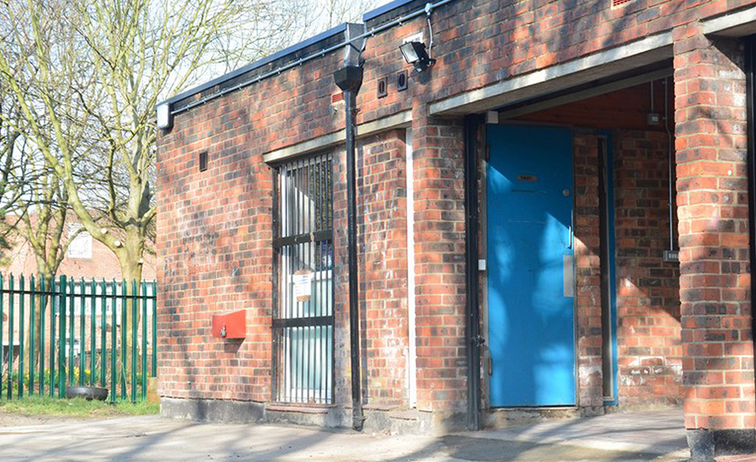 Axis refurbishment of community center shows the center before repairs