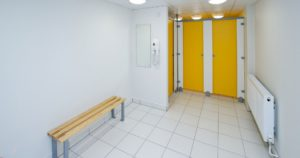 Changing room facilities for a gym