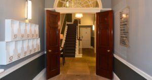 Interior restoration of communal entranceway