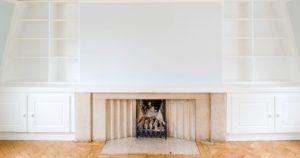 Modernised Georgian fireplace