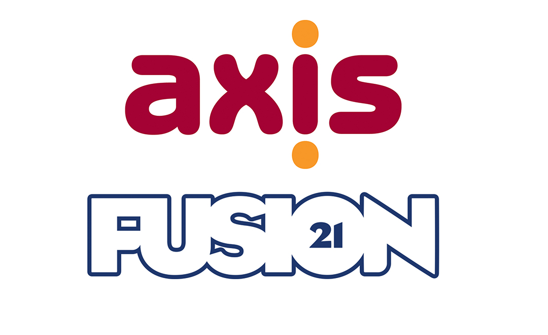 Axis and fusion 21 logos