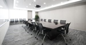 Modern board room layout for a high end brand