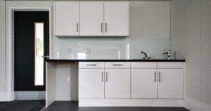 Kitchen installation in a modular building