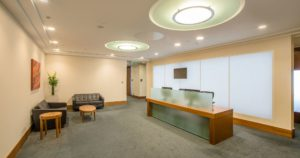 Canary Wharf reception upgrade