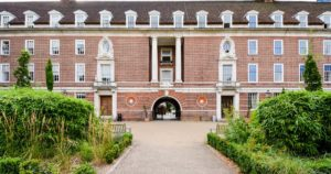 Entrance to the student accommodation for the University of Greenwich