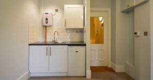 High end kitchen located in the Grade II* listed building of 1 New Square