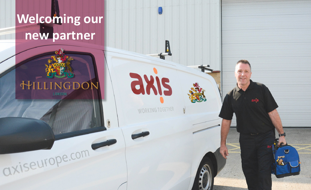 Axis person stood beside van welcoming new partner Hillingdon Council