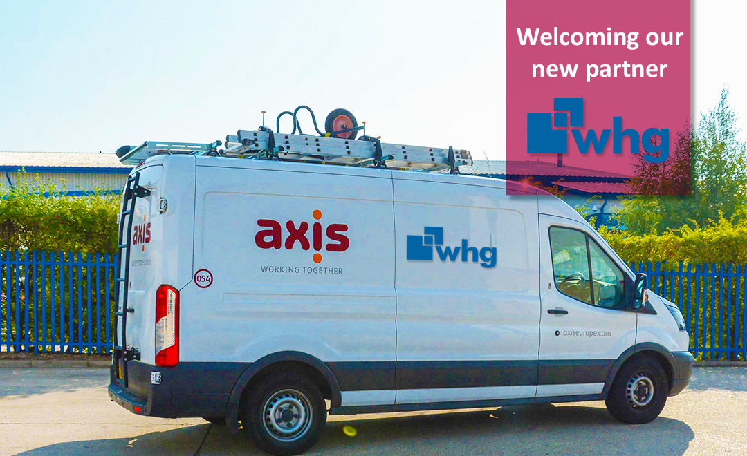 Axis van with WHG client logo announcing new contract win
