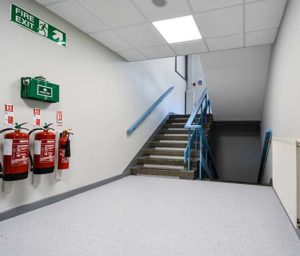 Internal fit out and refurbishment of corridor in Romford police station