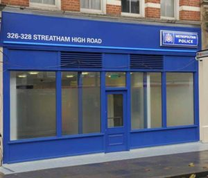 The entranceway to the newly converted Streatham police station.