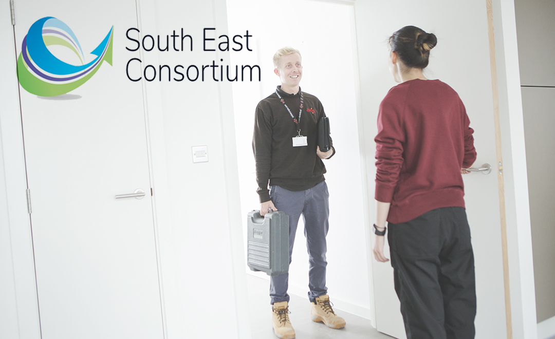 Axis operative being welcomed into a property by south east consortium property resident