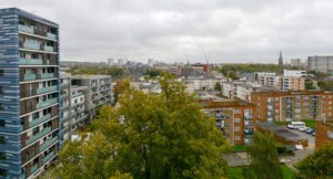 View of London from a tower block in Brent.