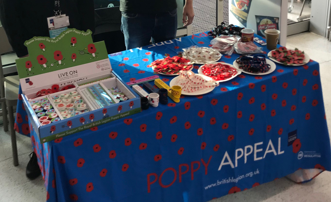 Axis people volunteering for the poppy appeal