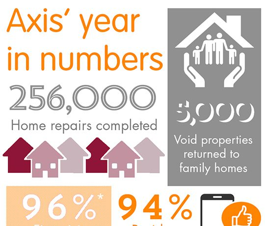 Infographic showing last years housing performance