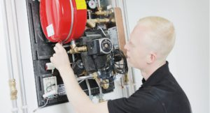 Walsall Housing Compliance Axis technician working on gas meter