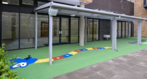 Back canopy at Pembury Pre-school