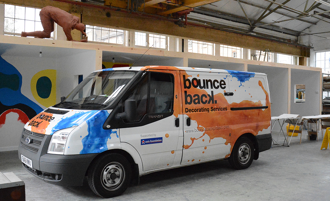 Axis donated a van to bounce back decorating services to help ex-offenders