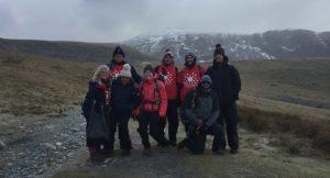 Axis fundraisers climbing Snowdon to raise money for Demelza.