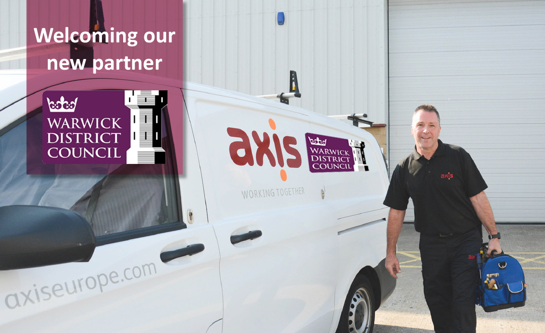 Axis subcontract stood by van announcing new repairs and voids contract with Warwick district council
