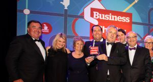Axis People Celebrate winning a Business Charity Award