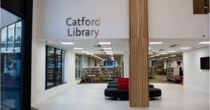 Reception at Catford Library and Laurence House