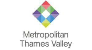 multi coloured diamond, Metropolitan Thames Valley logo
