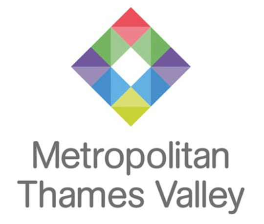 multi coloured diamond, Metropolitan Thames Valley logo