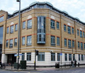 Exterior shot of Axis' Stratford office - Tramway House