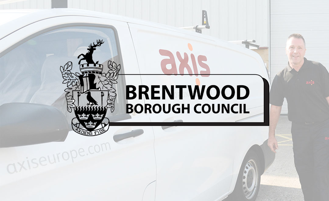 Axis Repairs and maintenance operative stands beside a van to announce new contract win with Brentwood council