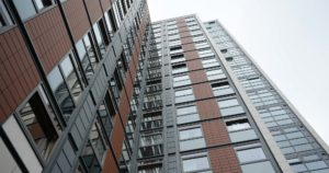 Cladding works at Paragon towers
