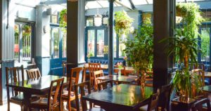 The dining area of the gipsy moth