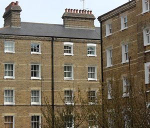 Exterior of Southwark Street Peabody Estate