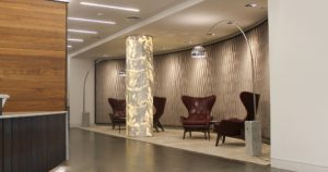 Lounge area at 16 St James Street reception