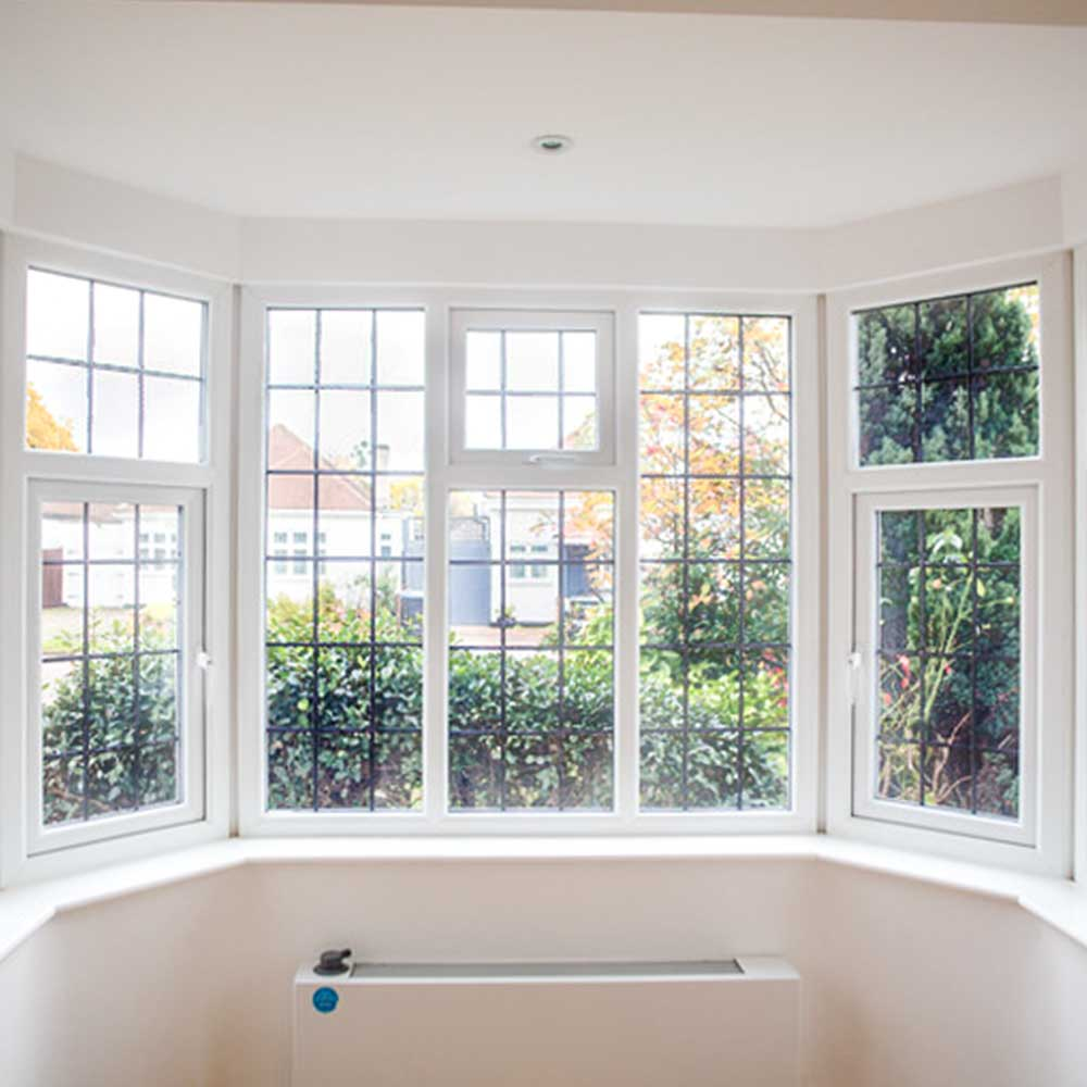 interior of a brentwood conversion bay window looking out