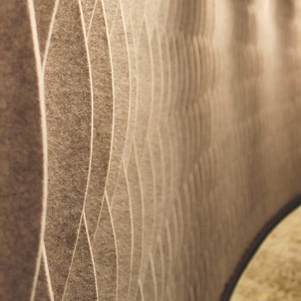 Textured coating on the walls of St James Corporate reception