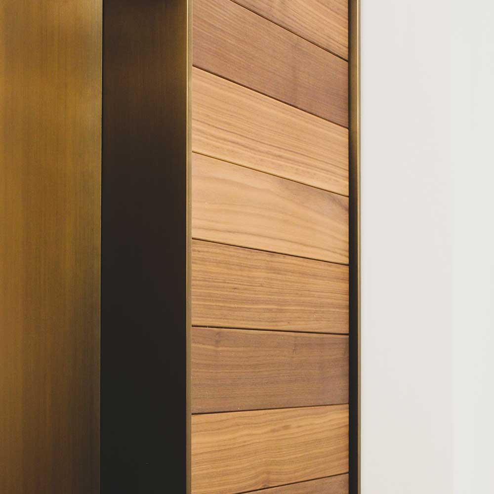 Textured-wooden-walls corporate reception