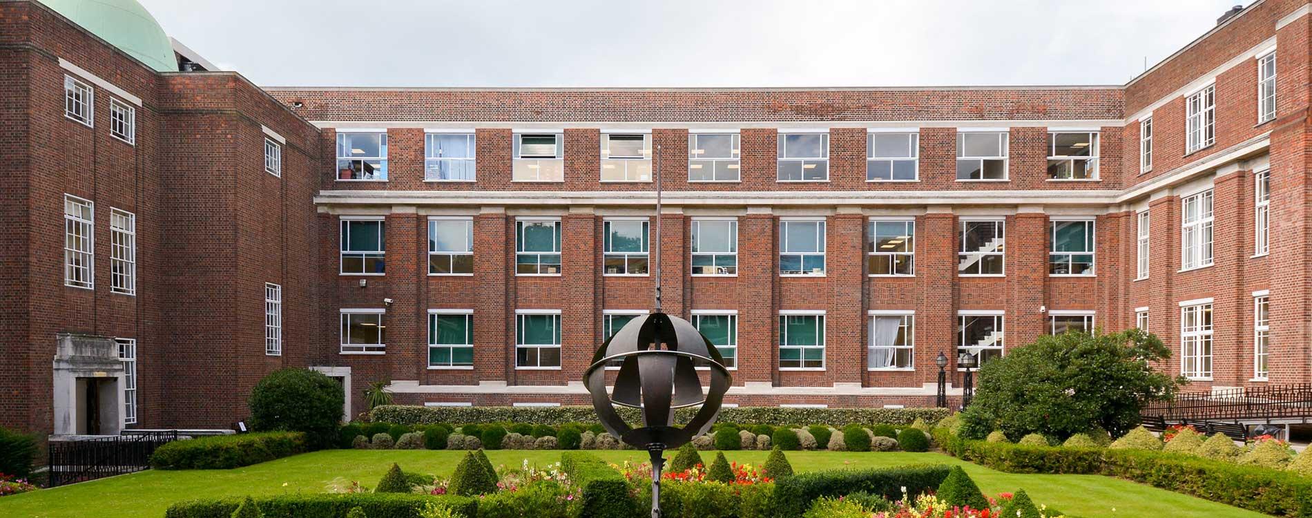 Façade-Renovation-Project-at-regents-university on a sunny day