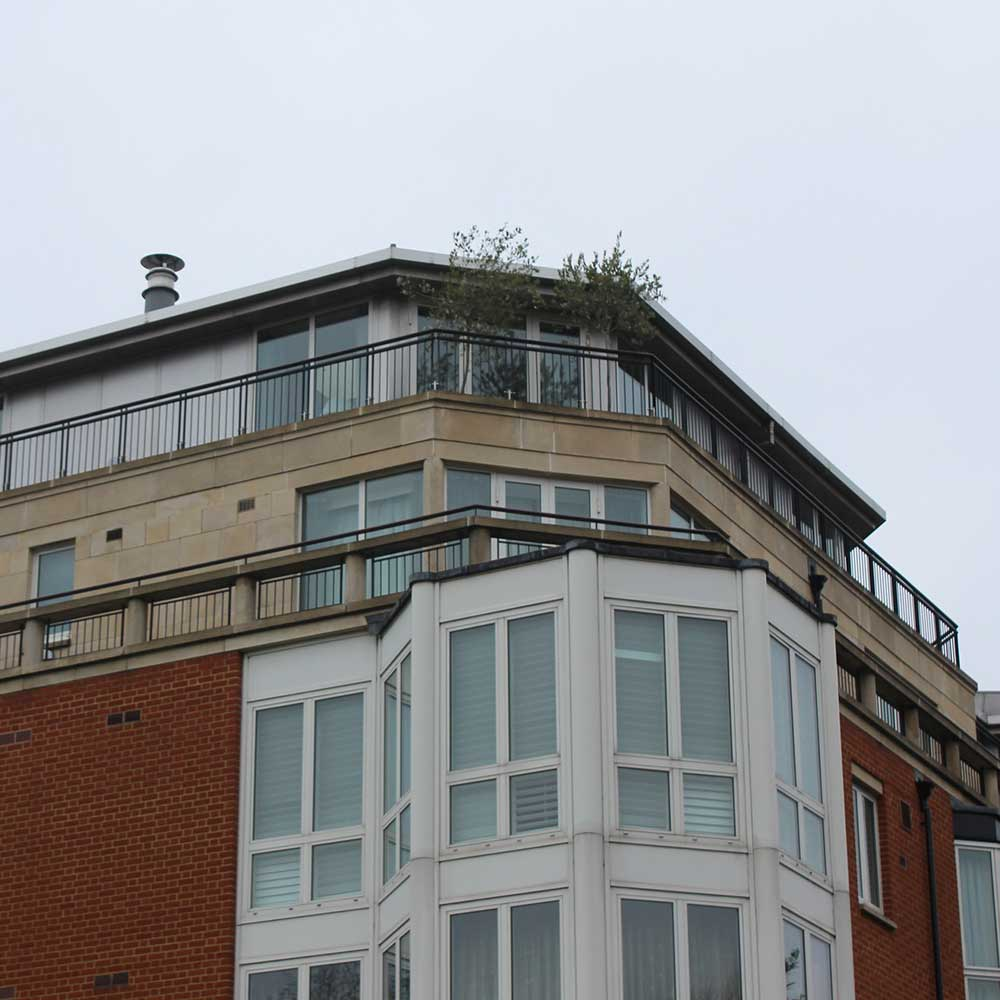 Chelsea penthouse on a rainy after restoration work