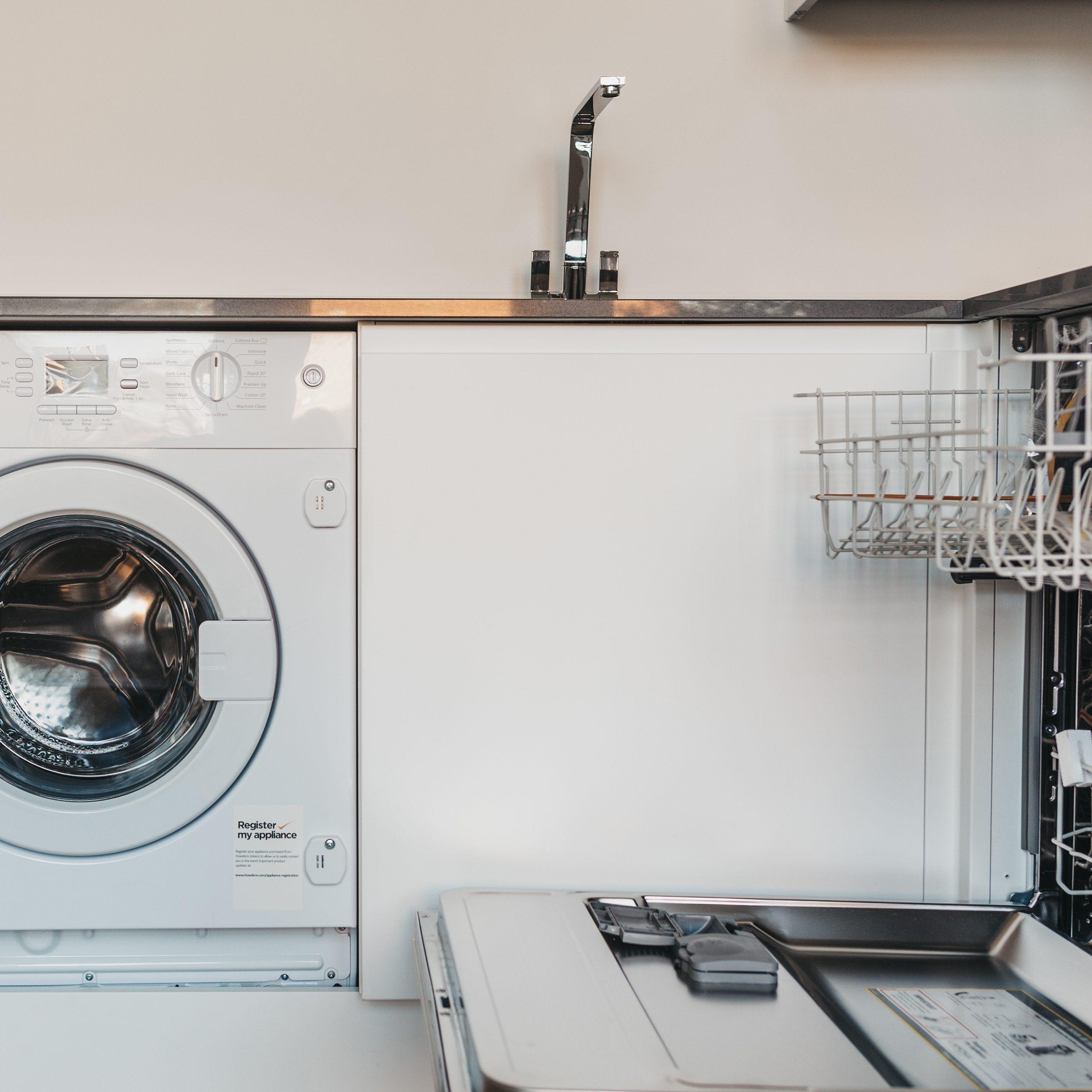 Utilities in a kitchen inside modern flat