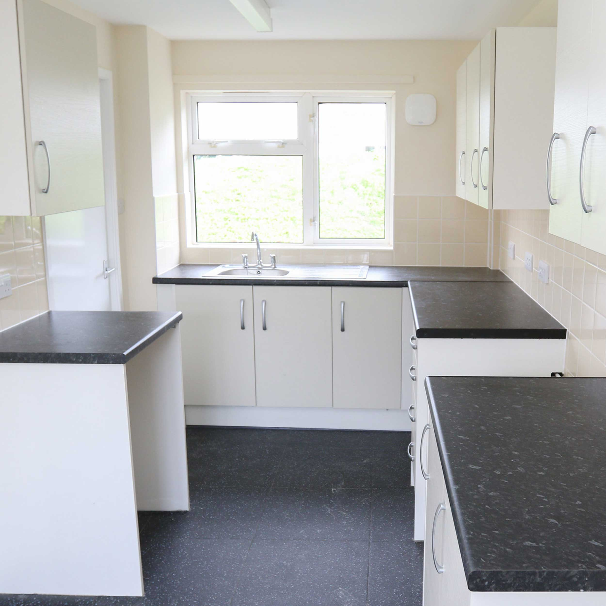 New void kitchen fit out in a Wrexham