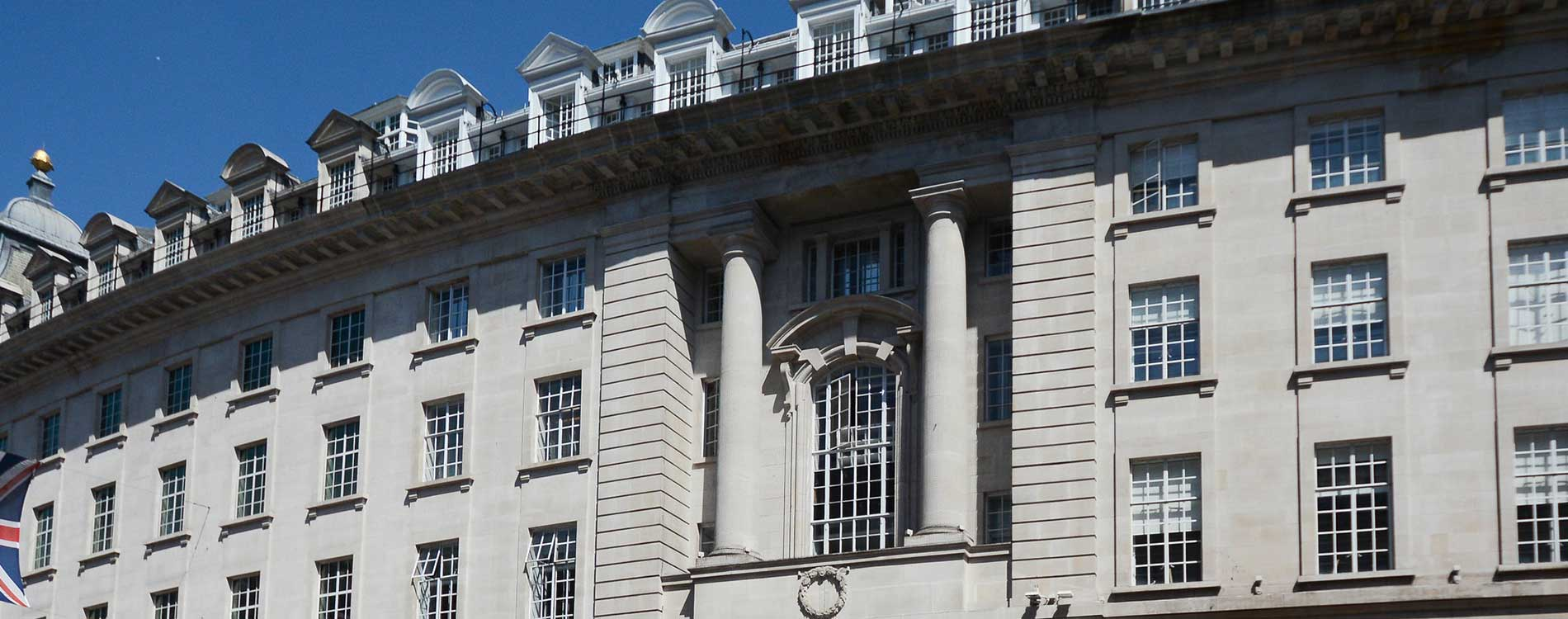 exterior shot of venture house from regents street showing the scale of the building