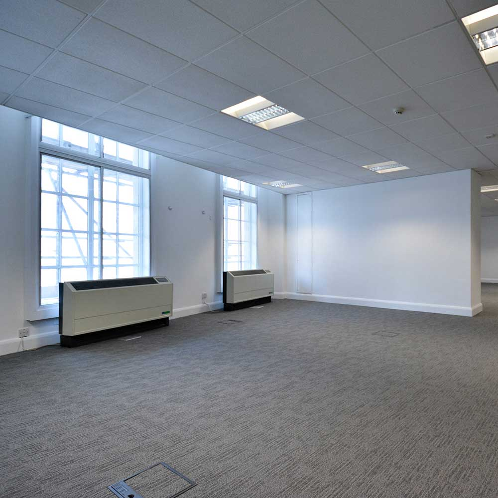 interior of venture house showing the refurbishment and office reinstatement works