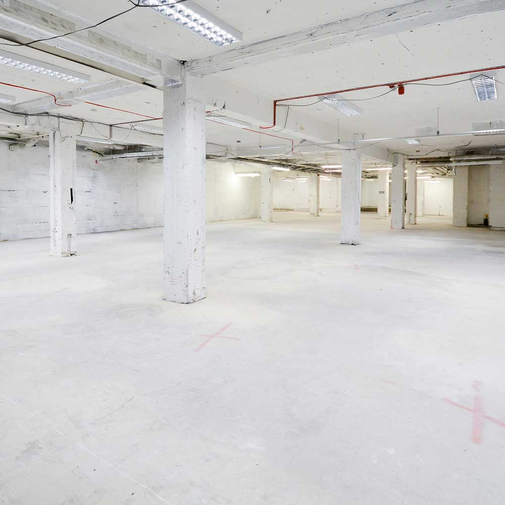 Shell and core fit out empty internal space before refurbishment