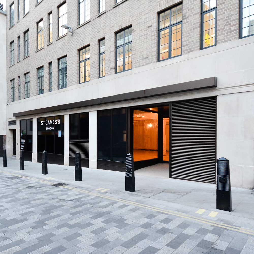 Quiet London side street with an external refurbishment office space
