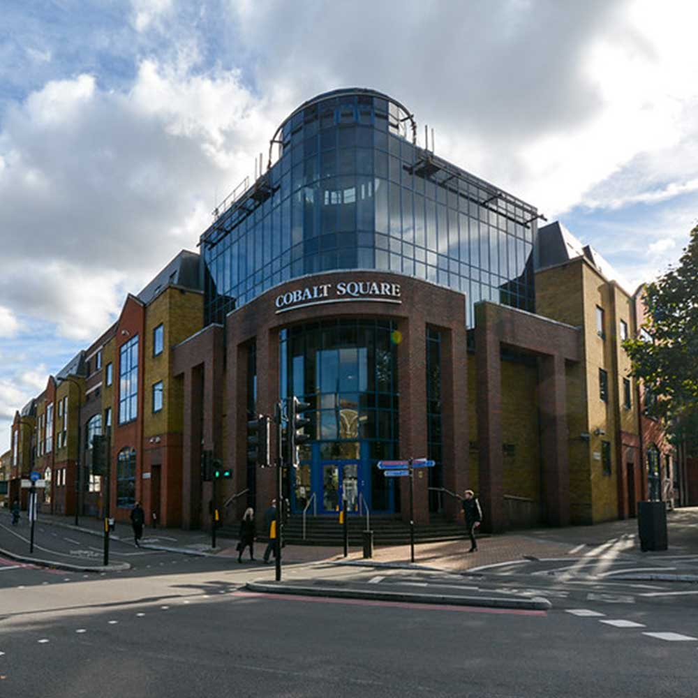 Cobalt square met police building on a sunny day in london before restack project carried out by axis