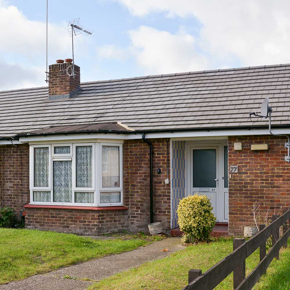 Bungalow with a garden part of Axis cyclical housing repairs contract