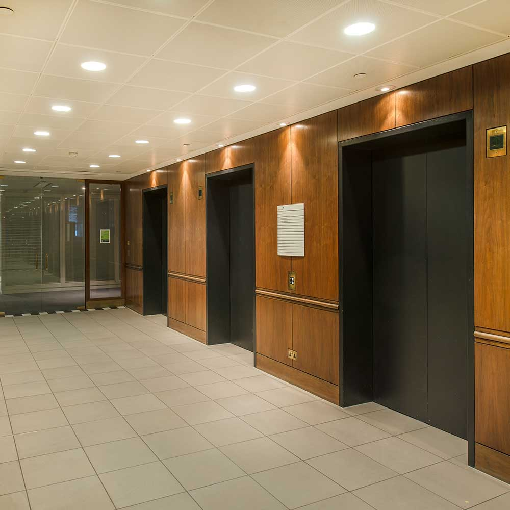 elevator upgrades in a large commercial building