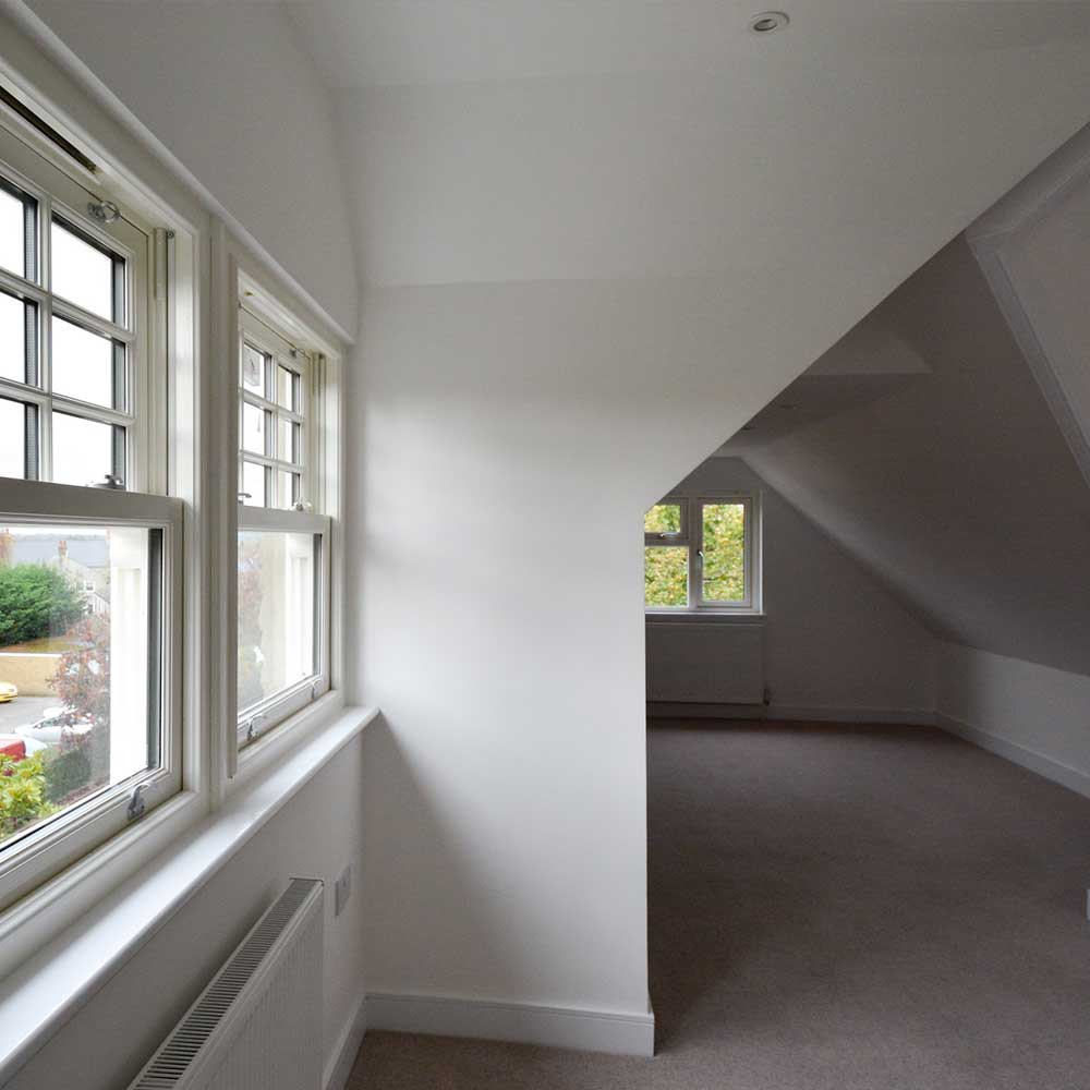 Carpet painting and decorating works inside a london flat