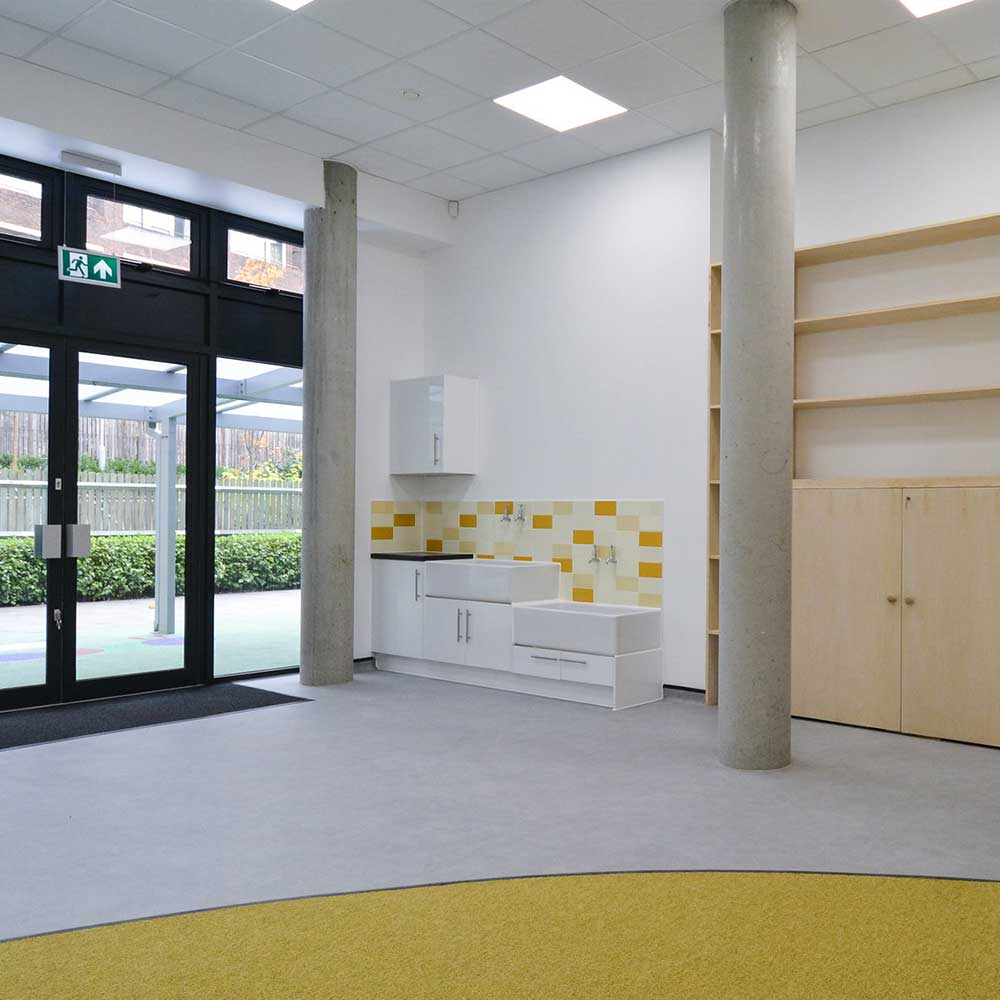 renovated area of children's school where axis worked