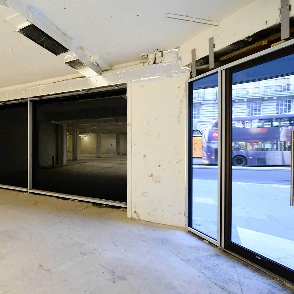 Internal refurbishment taking place at a central london office